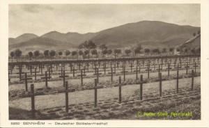 Der Kriegsgräberfriedhof Sennheim / Cernay in den 20er Jahren