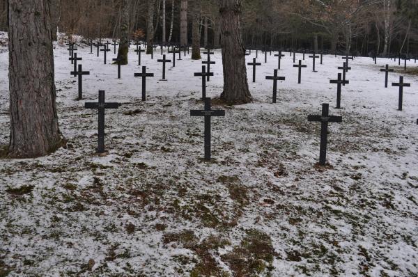 Die unmittelbare Umgebung des Grabes von Matthäus Osswald