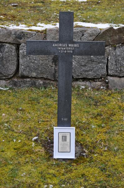 Das Grab von Andreas Waibel
