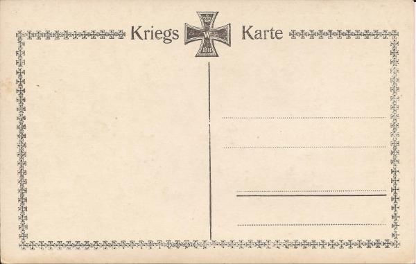 """Rückseite der Ansichtskarte """"Der Kaiser spricht"""""""