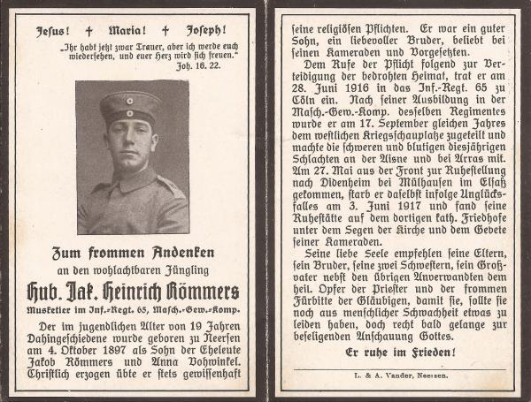 Sterbebild_Heinrich_Römmers_v